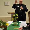 Cincinnati Auxiliary Bishop Joseph R. Binzer speaks during a Martha Dinner on April 8 at St. Denis Parish in Versailles.