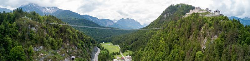 Hängebrücke Holzgau in Österreich