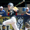 PH N #8 Brett Manis gets a hit  - Port Huron Northern hosted Cousino for Baseball. April 8th, 2017 (MIPrepzone photo gallery by David Angell)