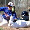 PHN #5 Chase Moeller slides into second  - Port Huron Northern hosted Cousino for Baseball. April 8th, 2017 (MIPrepzone photo gallery by David Angell)
