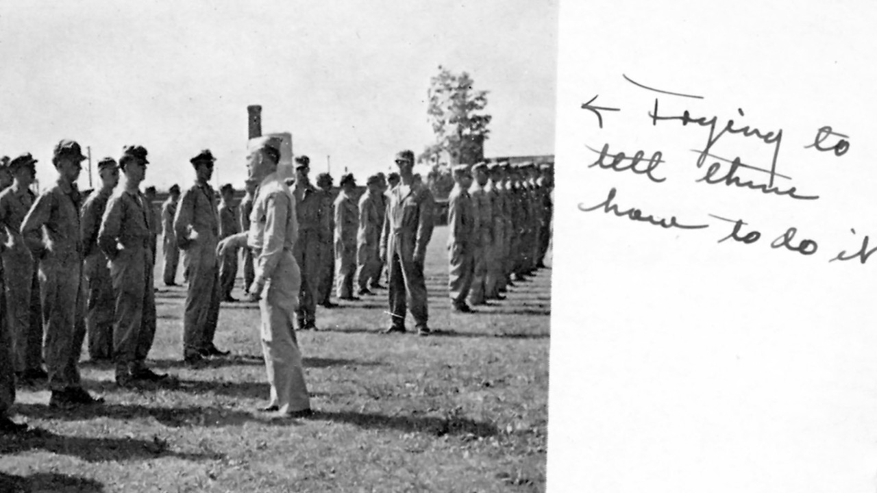 Knox College Yearbook Picture, Signed