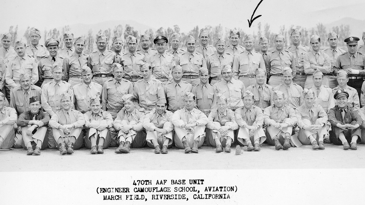 At School in March AFB California, 1944