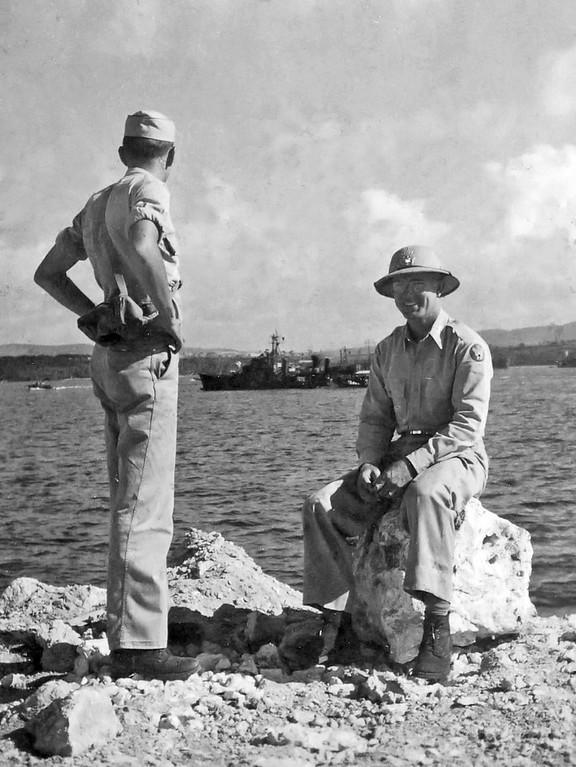 Guam, 1946 With Friend