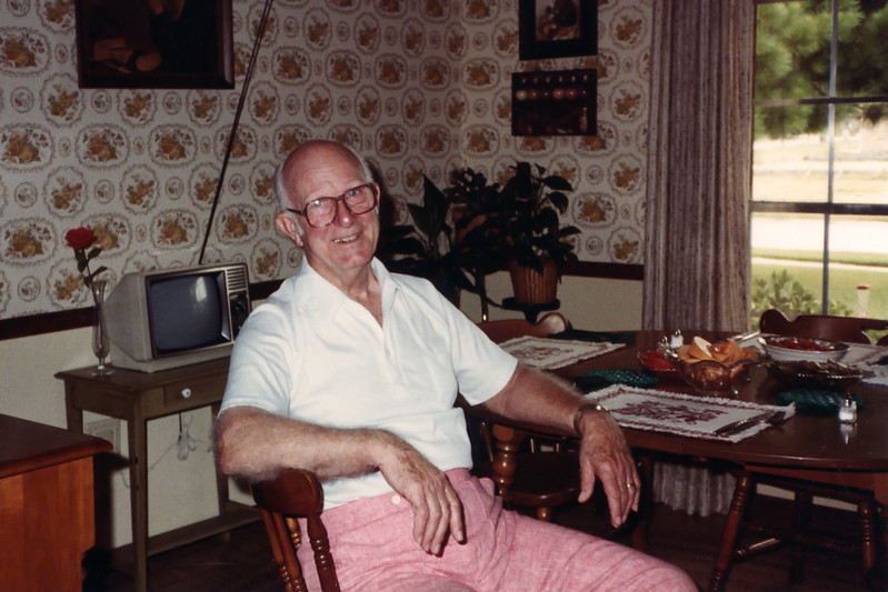 At Leaside Way House, 1983