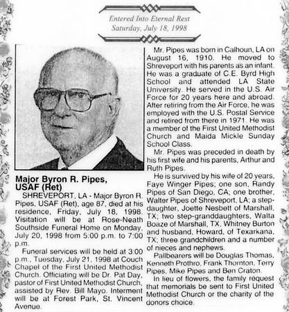 Byron R. Pipes, Chapt-7