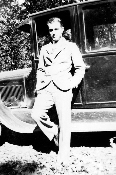 Byron with Pop's Car