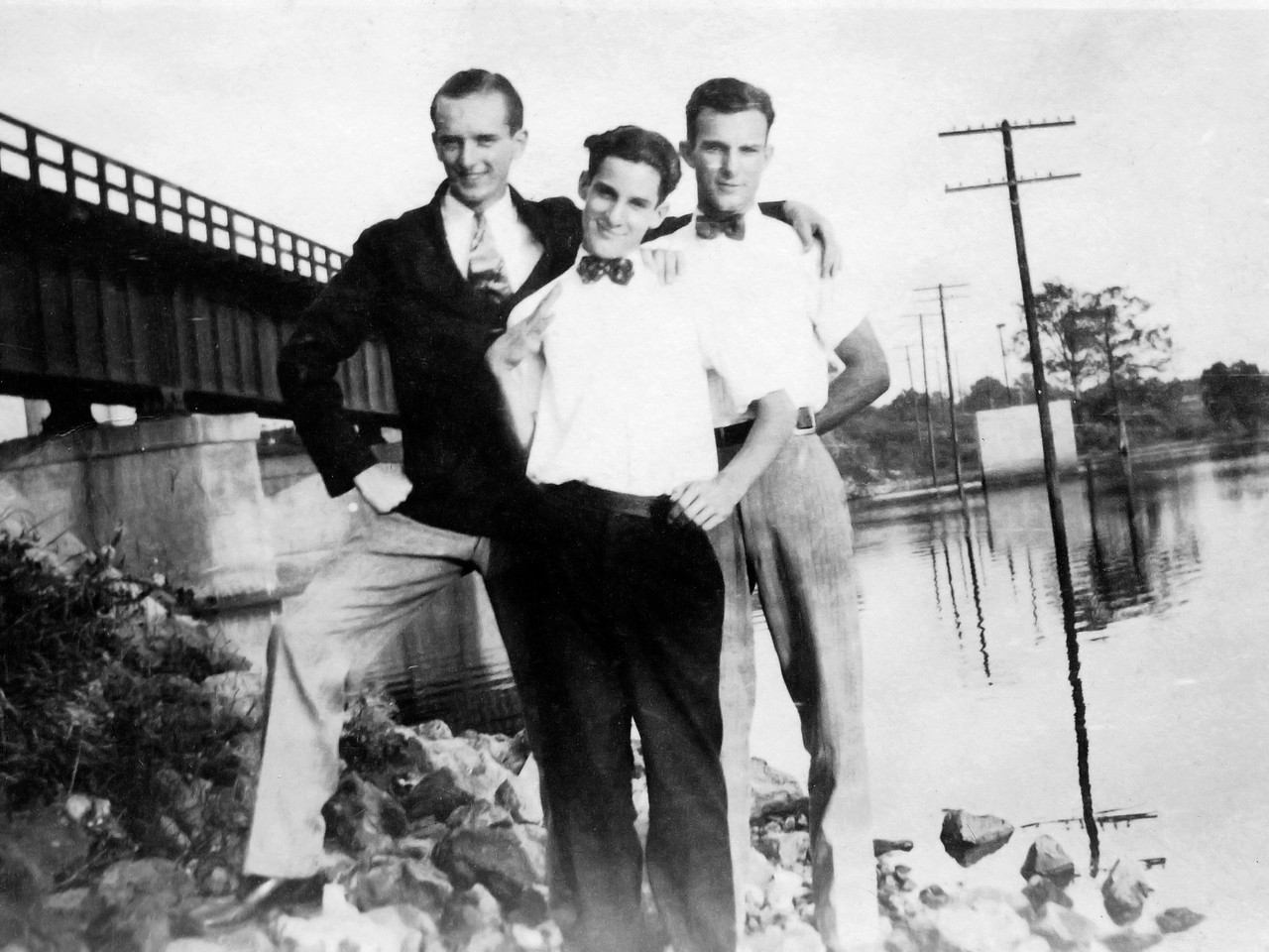 Byron, Walter, Jim Wells on Triple Date