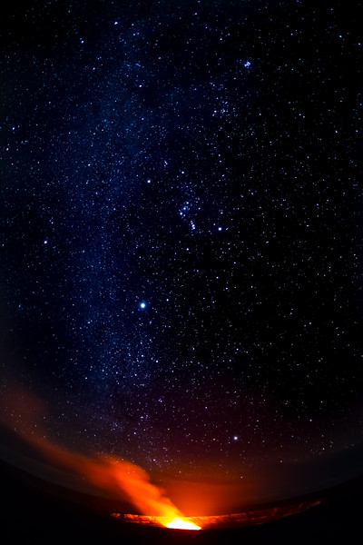 Orions belt and the Plaides.