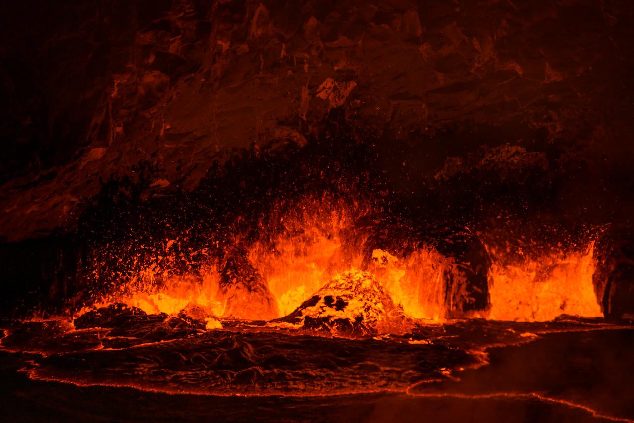 Bubbling caldera
