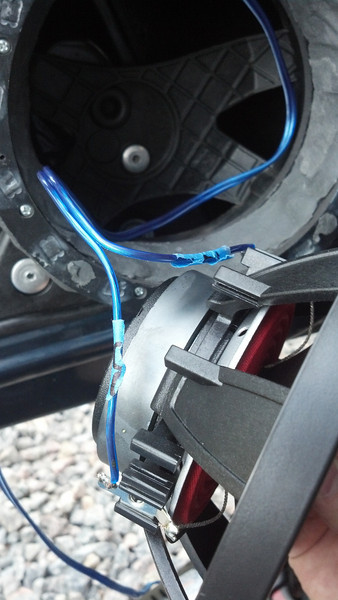 Installing aftermarket speaker with new wiring