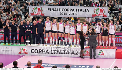 Premiazioni Coppa Italia A2F 2016 PREMIAZIONI FINALE A2 Coppa Italia 2016.  Pala De Andrè Ravenna 20.03.2016. FOTO: Daniele Ricci © 2016 Volleyfoto.it, all rights reserved [id:20160320.DSC_3485]
