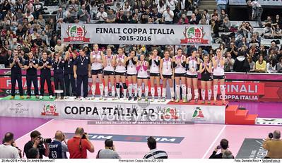 Premiazioni Coppa Italia A2F 2016 PREMIAZIONI FINALE A2 Coppa Italia 2016.  Pala De Andrè Ravenna 20.03.2016. FOTO: Daniele Ricci © 2016 Volleyfoto.it, all rights reserved [id:20160320.DSC_3491]