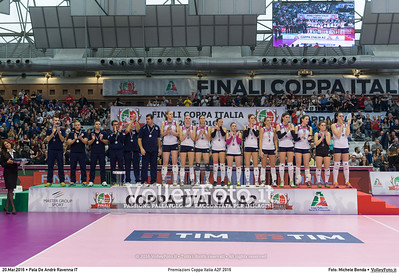 Premiazioni Coppa Italia A2F 2016 PREMIAZIONI FINALE A2 Coppa Italia 2016.  Pala De Andrè Ravenna 20.03.2016. FOTO: Michele Benda © 2016 Volleyfoto.it, all rights reserved [id:20160320.MB2_5945]