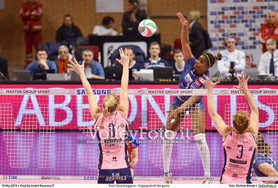 Pomì Casalmaggiore - Foppapedretti Bergamo SemiFinale 38ª Coppa Italia 2016 Serie A1F.  Pala De Andrè Ravenna 19.03.2016 FOTO: Michele Benda © 2016 Volleyfoto.it, all rights reserved [id:20160319.MBQ_7268]