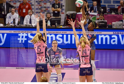 Pomì Casalmaggiore - Foppapedretti Bergamo SemiFinale 38ª Coppa Italia 2016 Serie A1F.  Pala De Andrè Ravenna 19.03.2016 FOTO: Michele Benda © 2016 Volleyfoto.it, all rights reserved [id:20160319.MBQ_7241]