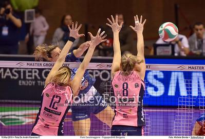 Pomì Casalmaggiore - Foppapedretti Bergamo SemiFinale 38ª Coppa Italia 2016 Serie A1F.  Pala De Andrè Ravenna 19.03.2016 FOTO: Michele Benda © 2016 Volleyfoto.it, all rights reserved [id:20160319.MBQ_7281]