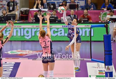 Pomì Casalmaggiore - Foppapedretti Bergamo SemiFinale 38ª Coppa Italia 2016 Serie A1F.  Pala De Andrè Ravenna 19.03.2016 FOTO: Michele Benda © 2016 Volleyfoto.it, all rights reserved [id:20160319.MBQ_7266]