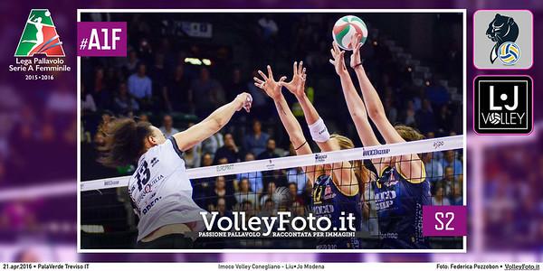 Imoco Volley Conegliano, Liu•Jo Modena, Gara 2 Semifinale PlayOff, MGSVolleyCup