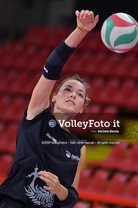 TABORELLI Veronica durante Bartoccini Fortinfissi Perugia, allenamento congiunto, Megabox Battistelli Vallefoglia IT, 18 settembre 2019. Foto: BENDA per VolleyFoto.it [riferimento file: 2019-09-18/ND5_1288]