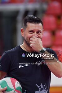 BOVARI Fabio durante Bartoccini Fortinfissi Perugia, allenamento congiunto, Megabox Battistelli Vallefoglia IT, 18 settembre 2019. Foto: BENDA per VolleyFoto.it [riferimento file: 2019-09-18/ND5_1326]