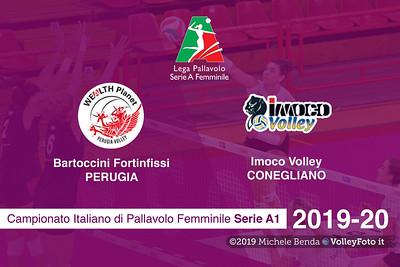Bartoccini Fortinfissi Perugia vs Imoco Volley Conegliano, 9ª giornata Campionato Italiano di Pallavolo Femminile Serie A1 presso PalaBarton Perugia IT, 31 ottobre 2019. Foto: Michele Benda [riferimento file: 2019-10-31/CoverA1F-A09-]