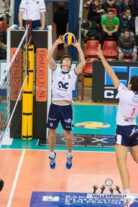 Zhukouski Tsimafei (Ravenna) Sir Safety PERUGIA vs CMC RAVENNA  9ª Giornata andata, Campionato Italiano di Volley Maschile, Serie A1 - 2012/13