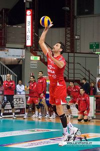 Samuele Papi. battuta (Piacenza) SIR Safety Perugia - Copra Elior Piacenza >  8ª Giornata di ritorno, Campionato Italiano di Volley Maschile, Serie A1, 2012/13