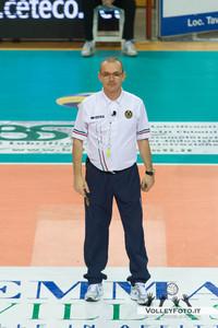 Marco Braico, primo arbitro Sir Safety Perugia - Andreoli Latina 1ª giornata di ritorno, Campionato Italiano di Volley Maschile Serie A1 2012/13