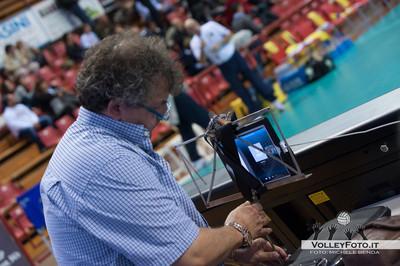 Partita in diretta Skype per il presidente Gino Sirci che si trova in CIna SIR Safety Perugia - Marmi Lanza Verona / 4a giornata andata regular season Campionato Italiano di Volley Maschile Serie A1