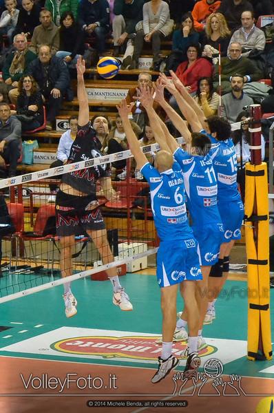 Goran VUJEVIC, attacco, muro a tre, Bre Lannutti Cuneo