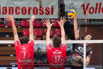 Nemanja PETRIC, attacco, contro il muro, Alessandro FEI, Luca VETTORI