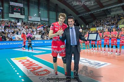 Aleksandar ATANASIJEVIC, premiato come miglior giocatore della stagione dalla Gazzetta dello Sport