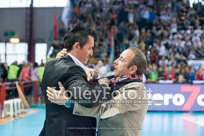 Gino Sirci, Maurizio Sensi, abbraccio