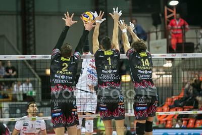 muro a tre, Sir Safety Perugia, Christian Fromm, Simone Buti, Aleksandar Atanasijevic