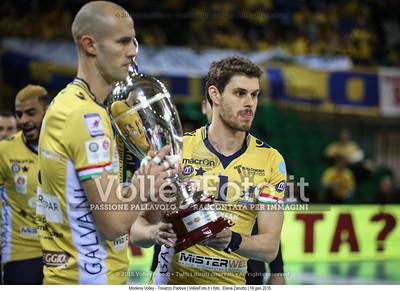 Andre SALA, Bruno MOSSA DE REZENDE Bruninho, con la Coppa Italia in mano