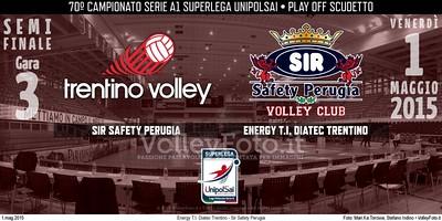 Energy T.I. Diatec Trentino ,Sir Safety Perugia, Gara 3, Semifinale