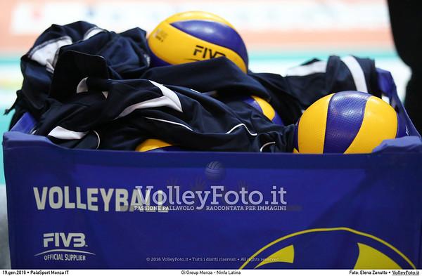Gi Group Monza - Ninfa Latina 13ª giornata Campionato Italiano di pallavolo maschile Serie A1 SuperLega UnipolSai 2015/16.  PalaSport Monza, 19.01.2016 FOTO: Elena Zanutto © 2016 Volleyfoto.it, all rights reserved [id:20160119.4B2A6212]
