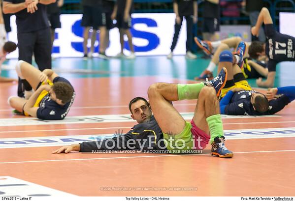 Top Volley Latina - DHL Modena 16ª Giornata ritorno 70º Campionato Serie A1 SuperLega UnipolSai 2014/15.  PalaBianchini Latina, 03.02.2016 FOTO: Mari.Ka Torcivia © 2016 Volleyfoto.it, all rights reserved [id:20160203.MariKa_65A6534]