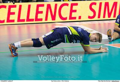 Top Volley Latina - DHL Modena 16ª Giornata ritorno 70º Campionato Serie A1 SuperLega UnipolSai 2014/15.  PalaBianchini Latina, 03.02.2016 FOTO: Mari.Ka Torcivia © 2016 Volleyfoto.it, all rights reserved [id:20160203.MariKa_65A6530]