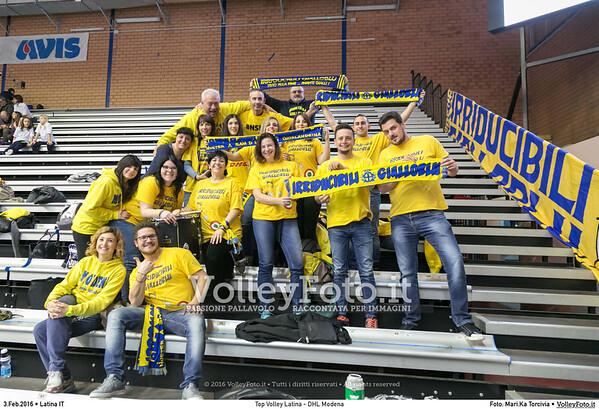 Top Volley Latina - DHL Modena 16ª Giornata ritorno 70º Campionato Serie A1 SuperLega UnipolSai 2014/15.  PalaBianchini Latina, 03.02.2016 FOTO: Mari.Ka Torcivia © 2016 Volleyfoto.it, all rights reserved [id:20160203.MariKa_65A6537]