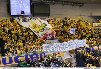 DHL Modena - Diatec Trentino 17ª giornata Campionato Italiano di pallavolo maschile Serie A1 SuperLega UnipolSai 2015/16.  PalaPanini Modena, 11.02.2016 FOTO: Elena Zanutto © 2016 Volleyfoto.it, all rights reserved [id:20160211.4B2A2951]