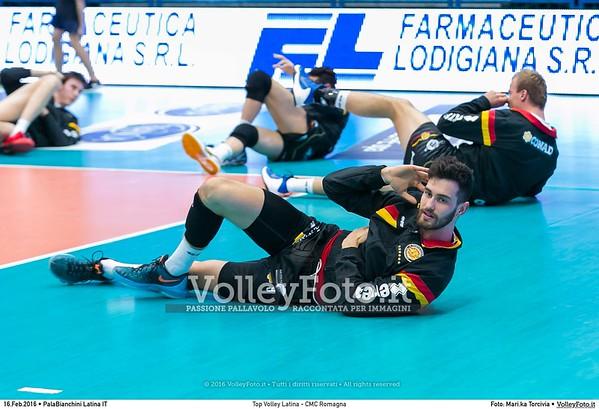 Top Volley Latina - CMC Romagna 18ª Giornata ritorno 71º Campionato Serie A1 SuperLega UnipolSai 2015/16.  PalaBianchini Latina, 16.02.2016 FOTO: Mari.ka Torcivia © 2016 Volleyfoto.it, all rights reserved [id:20160216._65A4643]