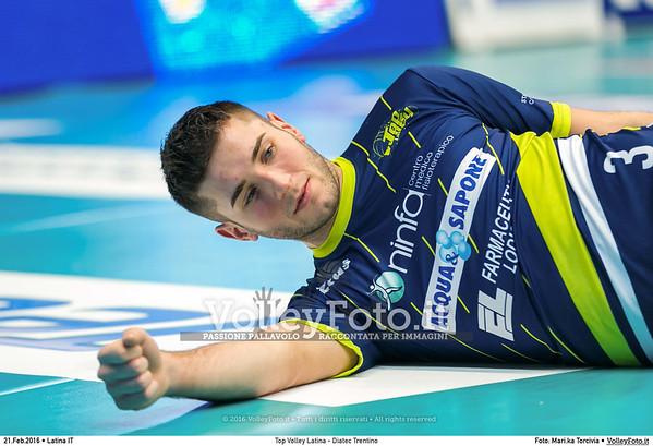 Top Volley Latina - Diatec Trentino 19ª Giornata ritorno 70º Campionato Serie A1 SuperLega UnipolSai 2014/15.  PalaBianchini Latina, 21.02.2016 FOTO: Mari.ka Torcivia © 2016 Volleyfoto.it, all rights reserved [id:20160221.MariKa_65A7302]
