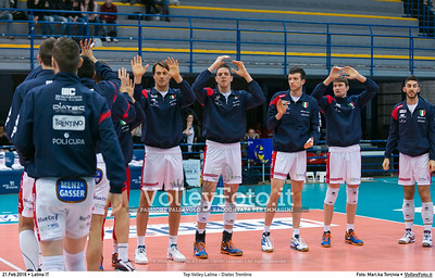 Top Volley Latina - Diatec Trentino 19ª Giornata ritorno 70º Campionato Serie A1 SuperLega UnipolSai 2014/15.  PalaBianchini Latina, 21.02.2016 FOTO: Mari.ka Torcivia © 2016 Volleyfoto.it, all rights reserved [id:20160221.MariKa_65A7293]