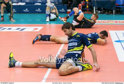 Top Volley Latina - Diatec Trentino 19ª Giornata ritorno 70º Campionato Serie A1 SuperLega UnipolSai 2014/15.  PalaBianchini Latina, 21.02.2016 FOTO: Mari.ka Torcivia © 2016 Volleyfoto.it, all rights reserved [id:20160221.MariKa_65A7306]