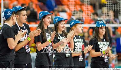 Sir Safety Conad Perugia - DHL Modena 20ª giornata Campionato Italiano di pallavolo maschile Serie A1 SuperLega UnipolSai 2015/16.  PalaEvangelisti Perugia, 24.02.2016 FOTO: Michele Benda © 2016 Volleyfoto.it, all rights reserved [id:20160224._MBK6766]