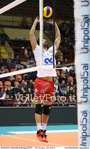CMC Romagna - DHL Modena 21ª giornata Campionato Italiano di pallavolo maschile Serie A1 SuperLega UnipolSai 2015/16.  PalaCredito di Romagna Forlì, 28.02.2016 FOTO: Elena Zanutto © 2016 Volleyfoto.it, all rights reserved [id:20160228.4B2A8171]