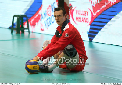 Gi Group Monza - LPR Piacenza 1ª giornata Pool Play Off 5 posto Campionato Italiano di pallavolo maschile Serie A1 SuperLega UnipolSai 2015/16.  PalaSport Monza, 12.03.2016 FOTO: Elena Zanutto © 2016 Volleyfoto.it, all rights reserved [id:20160312.4B2A2501]