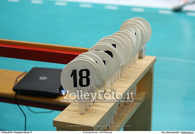 Gi Group Monza - LPR Piacenza 1ª giornata Pool Play Off 5 posto Campionato Italiano di pallavolo maschile Serie A1 SuperLega UnipolSai 2015/16.  PalaSport Monza, 12.03.2016 FOTO: Elena Zanutto © 2016 Volleyfoto.it, all rights reserved [id:20160312.4B2A2611]