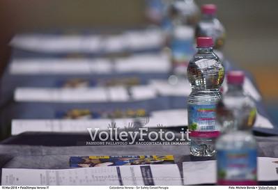 Calzedonia Verona - Sir Safety Conad Perugia Gara 1 Quarti di Finale Play off Campionato Italiano di pallavolo maschile Serie A1 SuperLega UnipolSai 2015/16.  PalaOlimpia Verona, 10.03.2016 FOTO: Michele Benda © 2016 Volleyfoto.it, all rights reserved [id:20160310.MB2_3922]